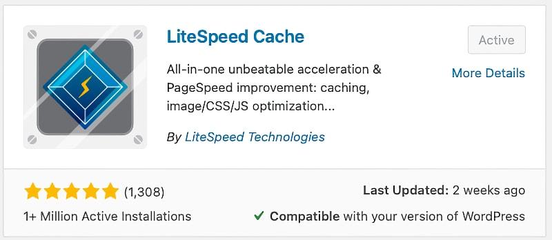 Installing the LiteSpeed Cache Plugin WordPress